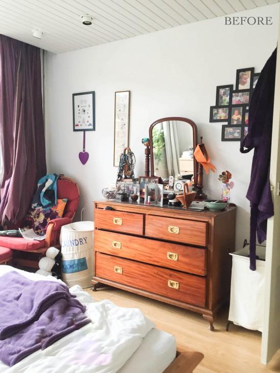 """Antes"" de un dormitorio nórdico"