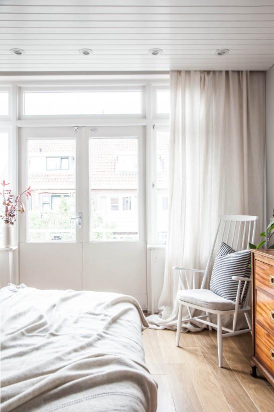 antes y después de un dormitorio nórdico