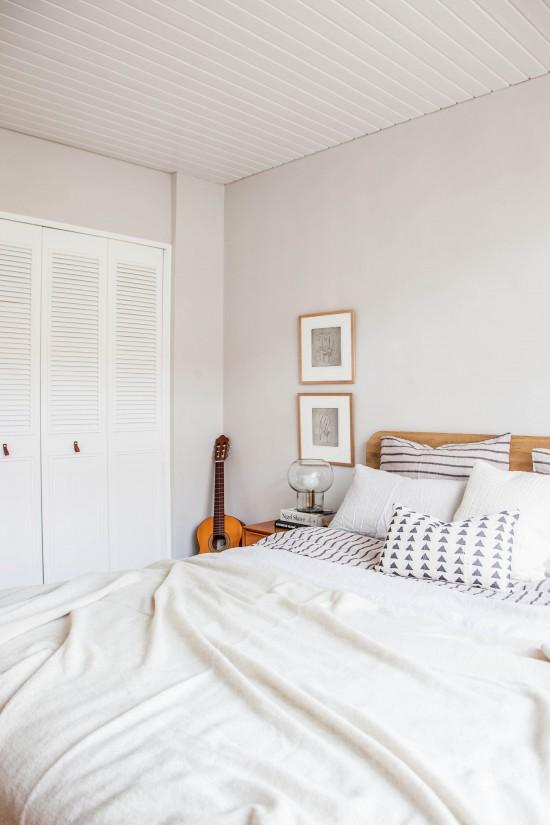Dormitorio nórdico antes y después