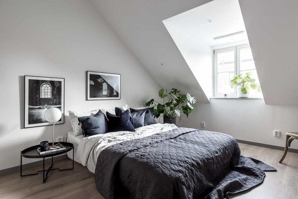 Ático con estilo nórdico industrial dormitorio 1