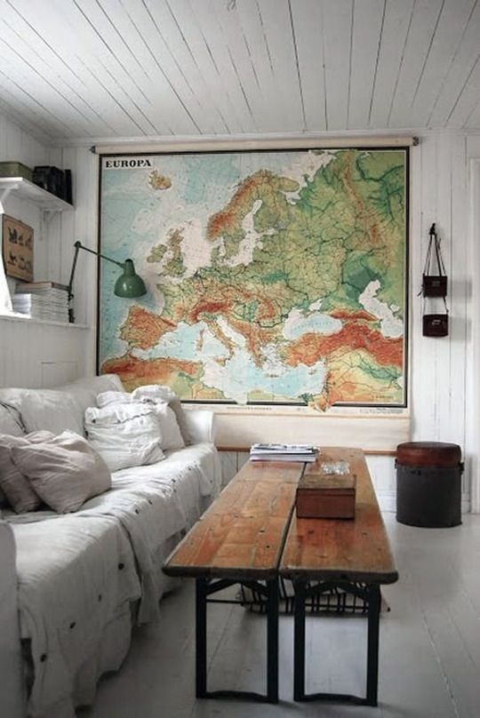 Tendendencias decoración 2017 mapa vintage