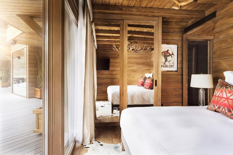 Hotel de estilo nórdico en la nieve el Lodge habitación