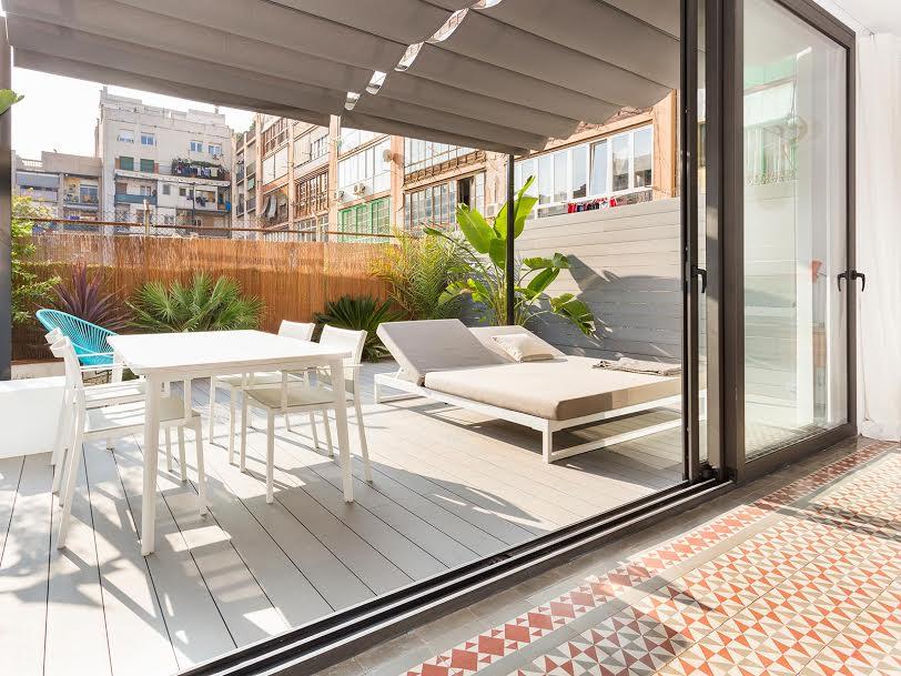 Apartamento en l'Eixample de Barcelona suelo hidráulico