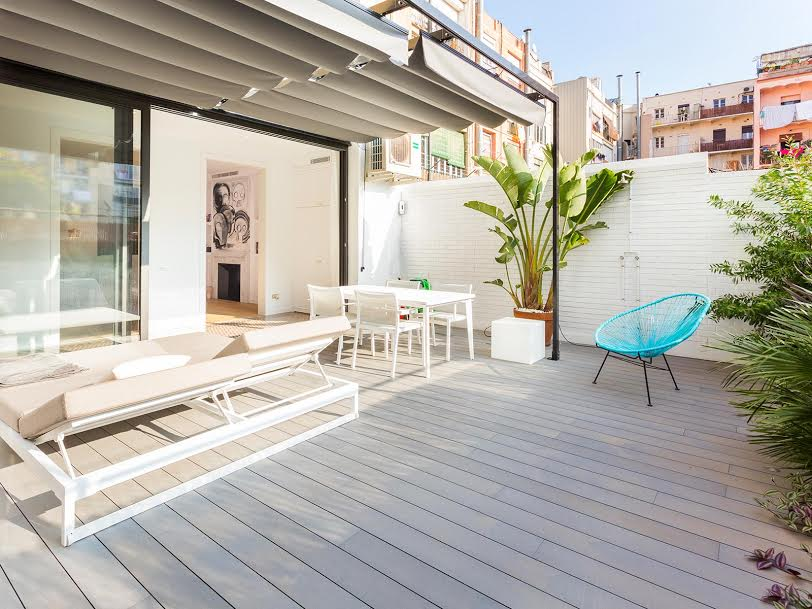 Apartamento en l'eixample de Barcelona terraza