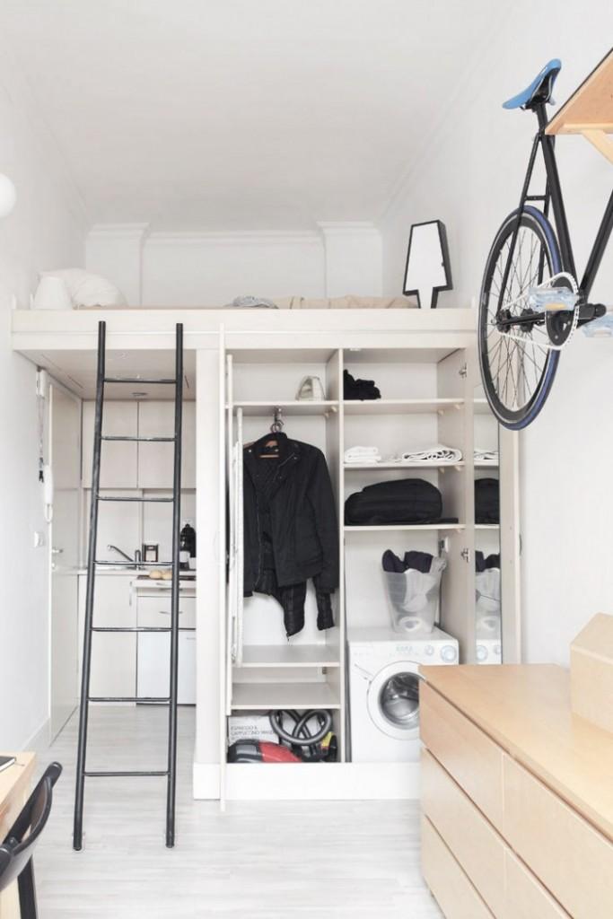 decorar un dormitorio multiusos con inspiración nórdica