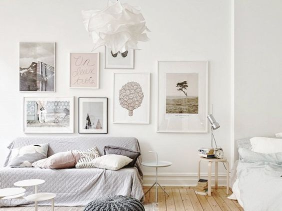 dormitorio multiusos en interiores nórdicos