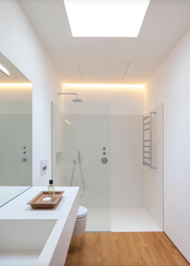 Baños con ducha nórdicos