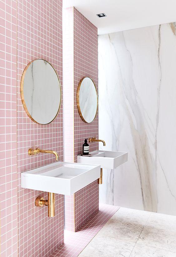 Tendencias en baños 2017 rosa