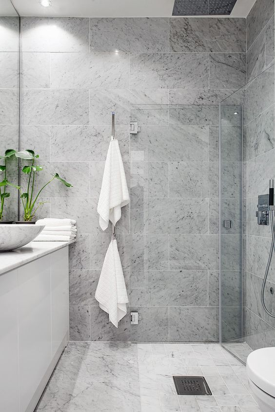 Baños con ducha sencillez