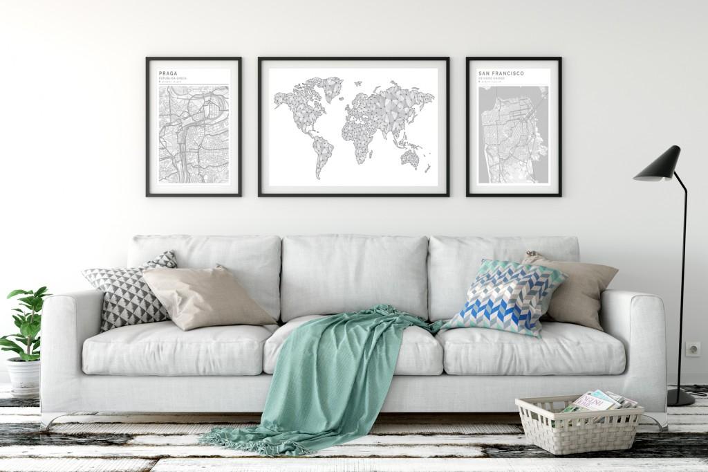 Decorar con Mapas DosClean&Mapamundi Geogragift