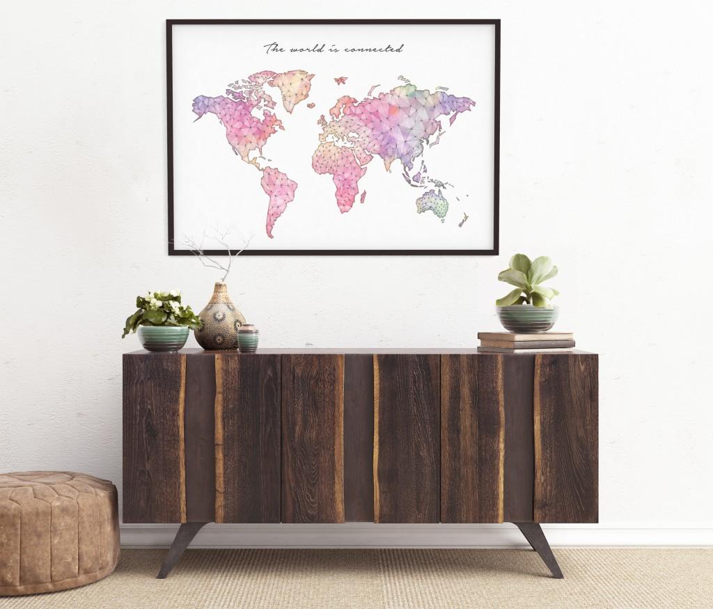 Decorar con Mapas MapamundiConected Geogragift