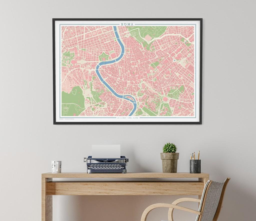 Decorar con mapas VintageRoma Geogragift