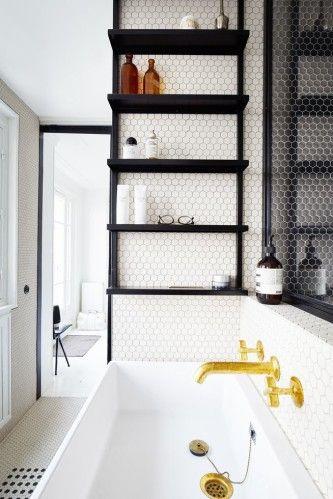 Tendencias en baños 2017 azulejos hexagonales
