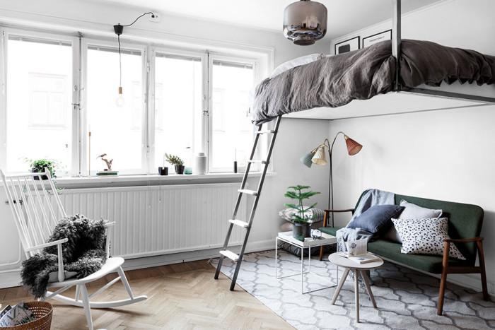 """¿ Dormitorio Multiusos con Camas Abatibles y Estilo Nórdico """""""