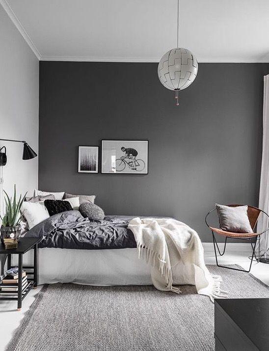 Renovar un dormitorio de estilo nórdico pared gris