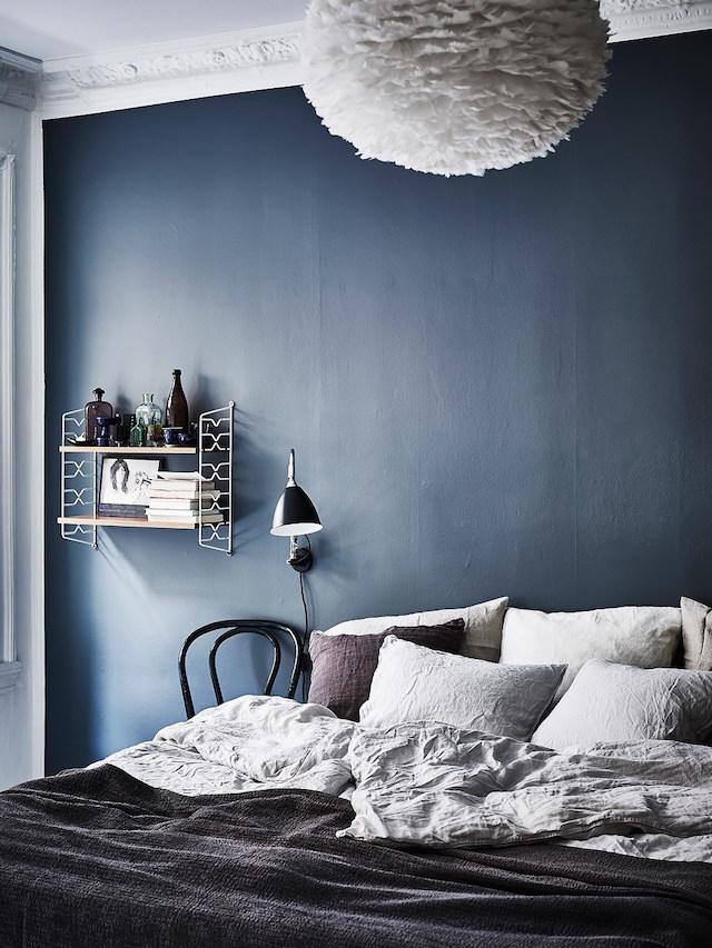 Habitación de estilo nórdico - lámparas