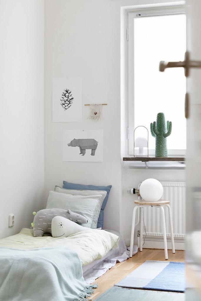 Habitación de estilo nórdico niños