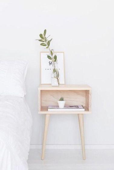 Redecorar un dormitorio de estilo nórdico mesita de noche
