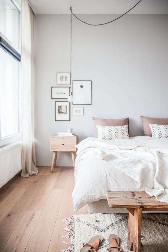 Decorar un dormitorio nórdico - iluminación