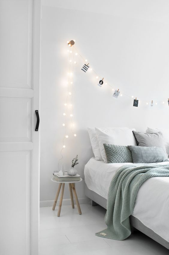 Renovar un dormitorio con estilo nórdico - guirnalda