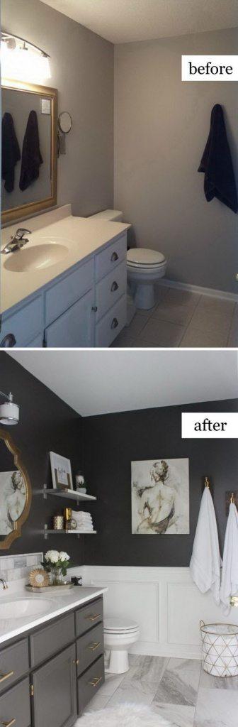 soluciones low cost para renovar un baño en gris