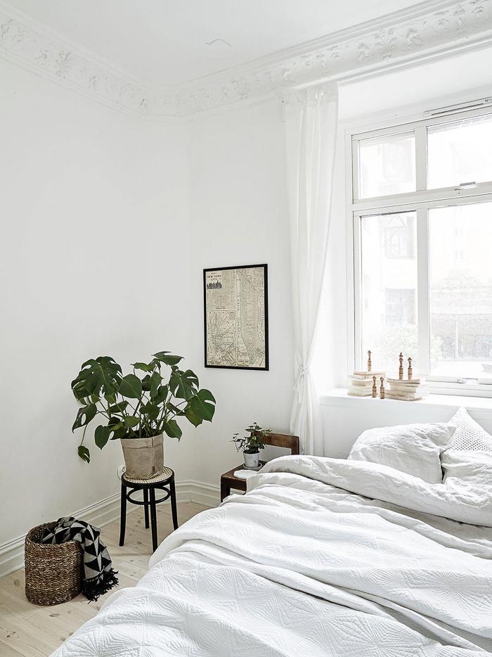 Redecorar dormitorio nórdico con plantas