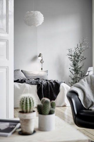 Redecorar un dormitorio con estilo nórdico cactus
