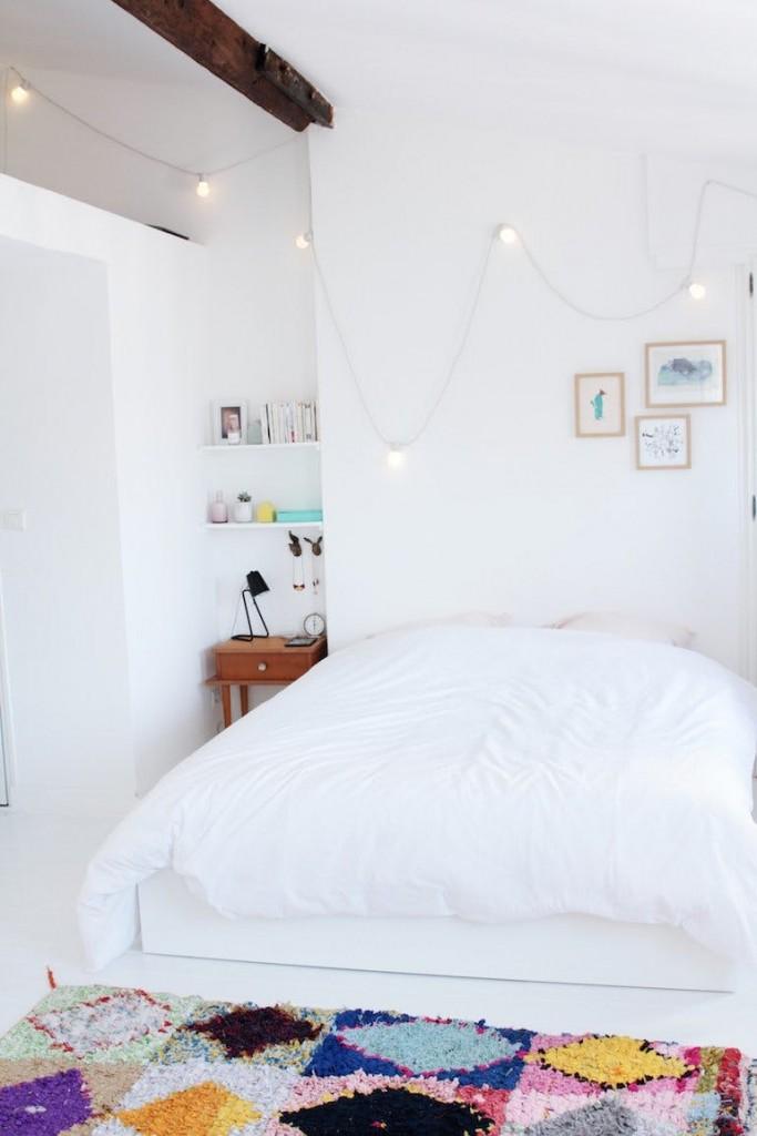 Renovar una habitación de estilo nórdico alfombras de color