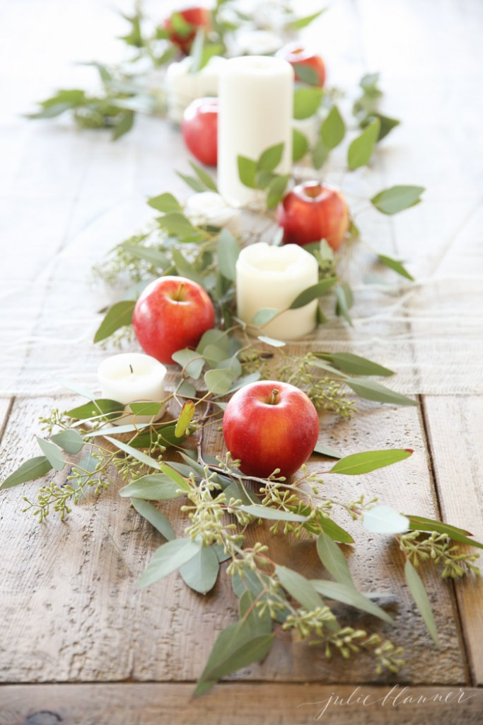 Mesa del día del padre con frutas