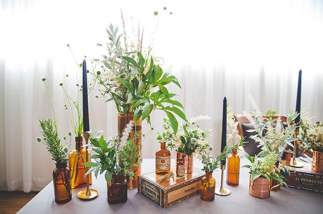 decorar la mesa del día del padre con plantas