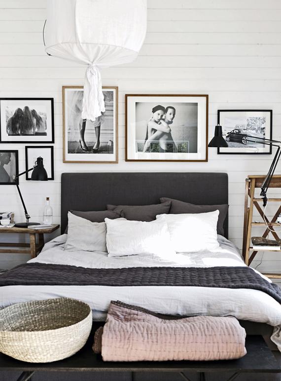 Decorar una habitación con estilo nórdico - lámpara de techo