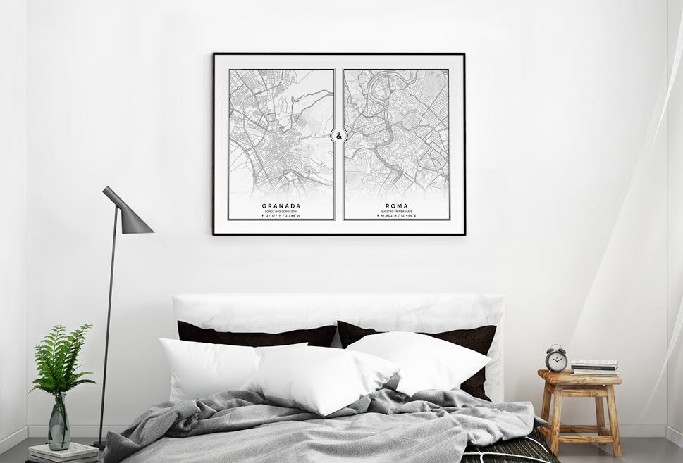 Redecorar un dormitorio de estilo nórdico mapas
