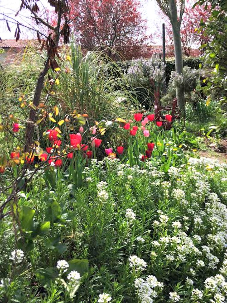 Flores para mesa primaveral con inspiración nórdica
