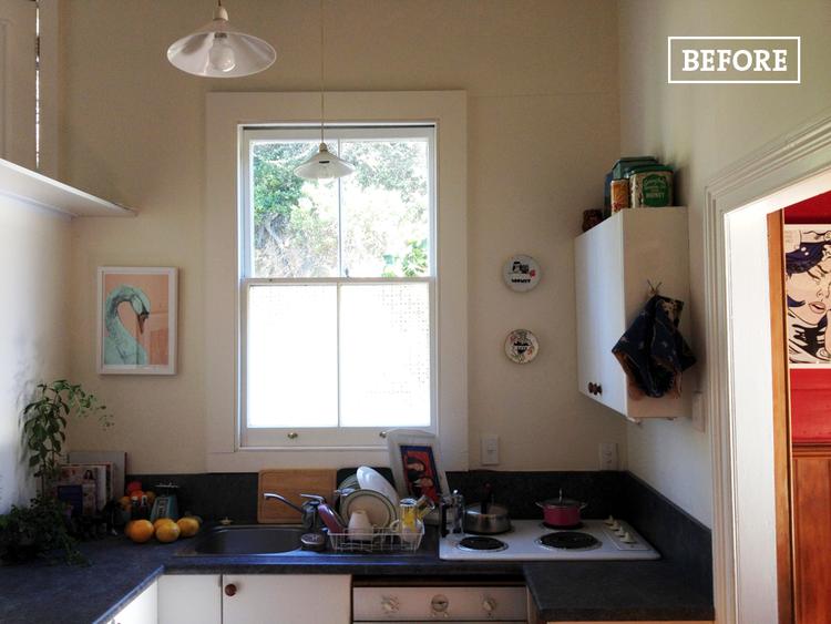 Antes y después de una cocina pequeña