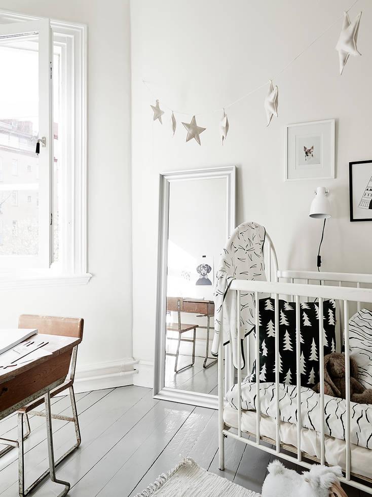 Casa familiar renovada en Finlandia habitación infantil