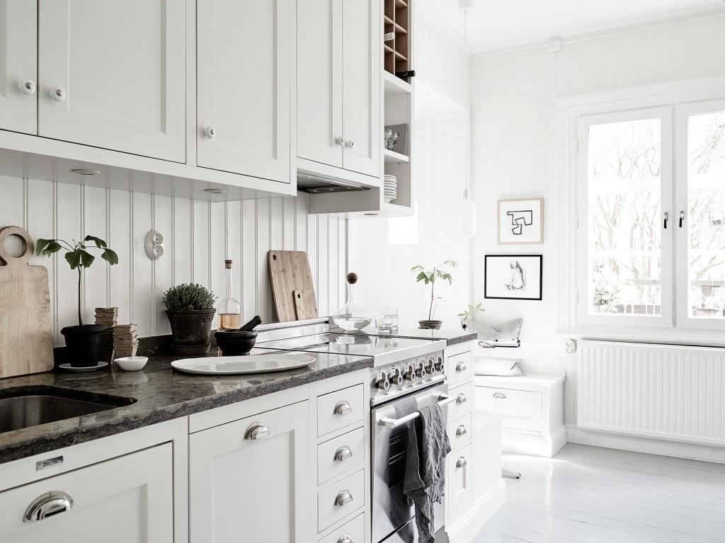 Casa familiar renovada en Finlandia cocina