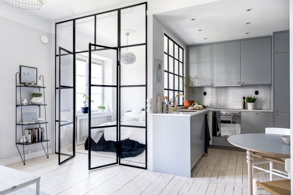 Puertas y paredes de cristal : funcionales y preciosas