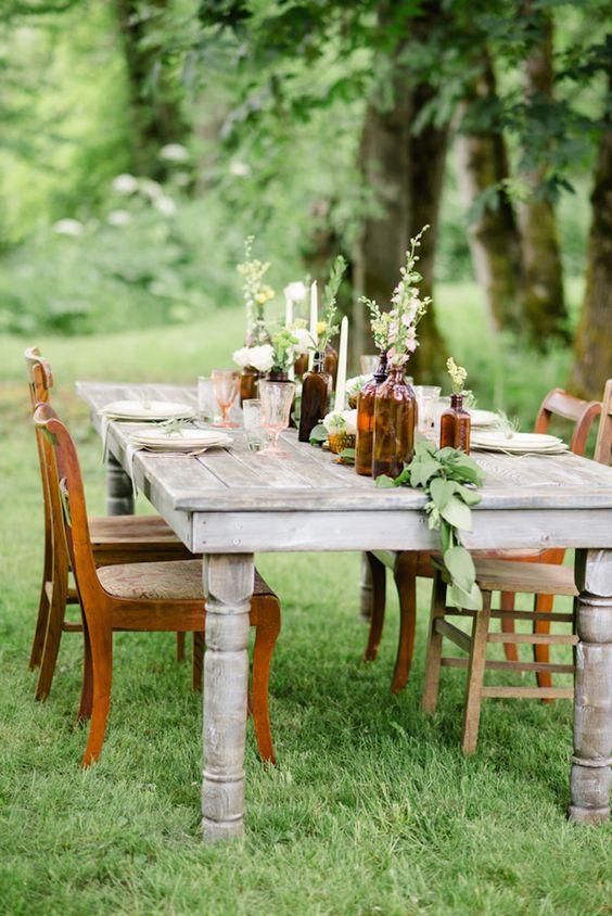Decorar cenas al aire libre