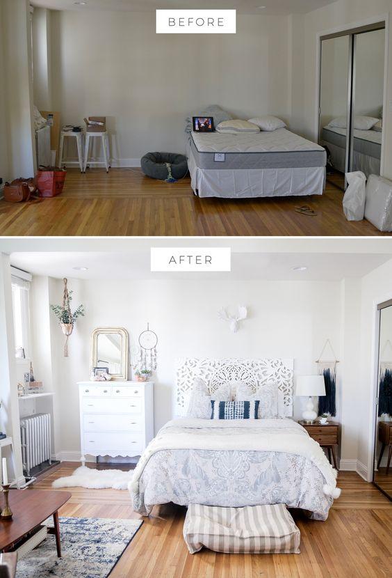 Comprar herramientas online - Antes y después dormitorio