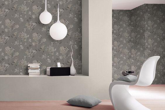 Papel pintado Gaulan gris