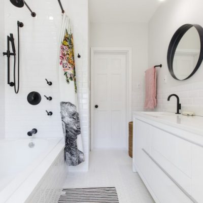 Un baño luminoso y actual