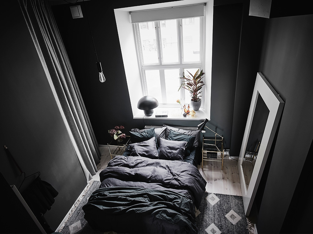 inspiración de estilo nórdico dormitorio