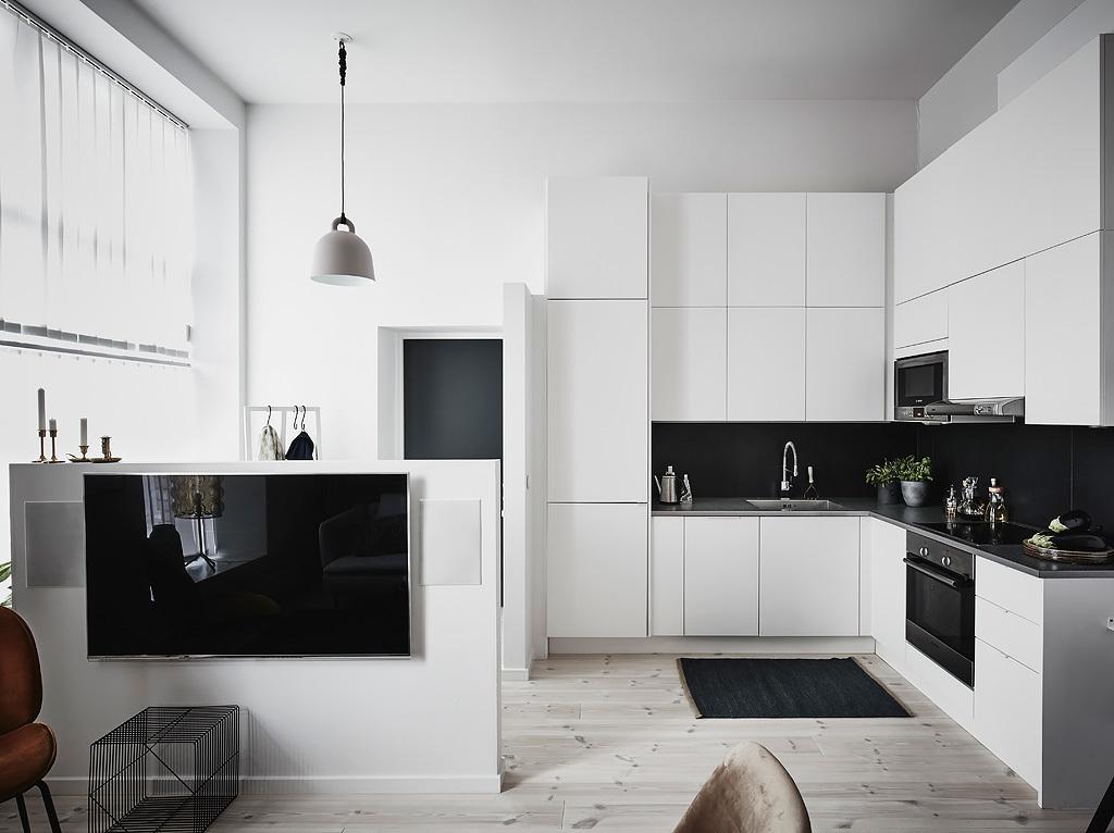 Inspiración de estilo nórdico en la cocina
