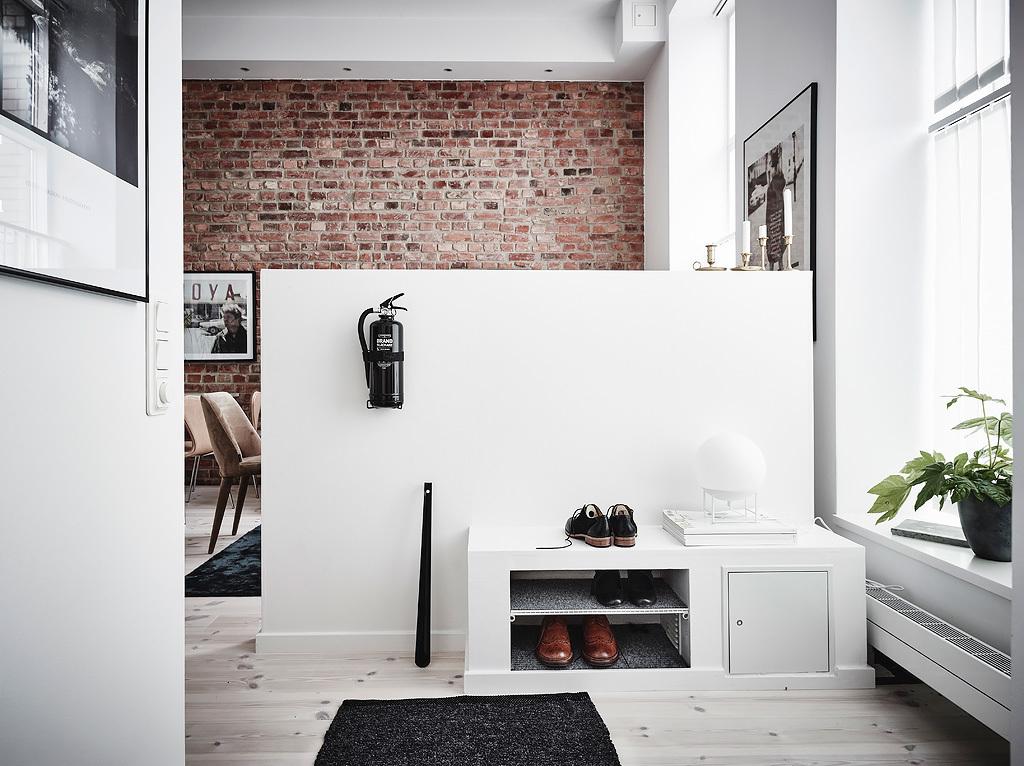 inspiración de estilo nórdico hall de entrada