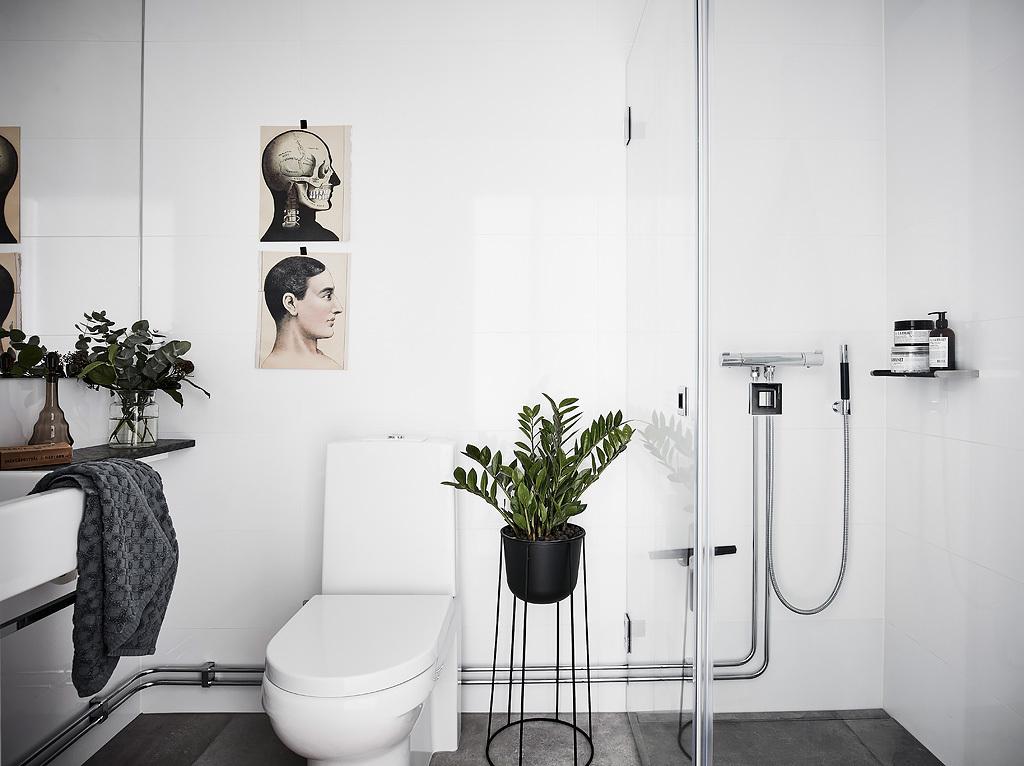 Inspiración de estilo nórdico cuarto de baño