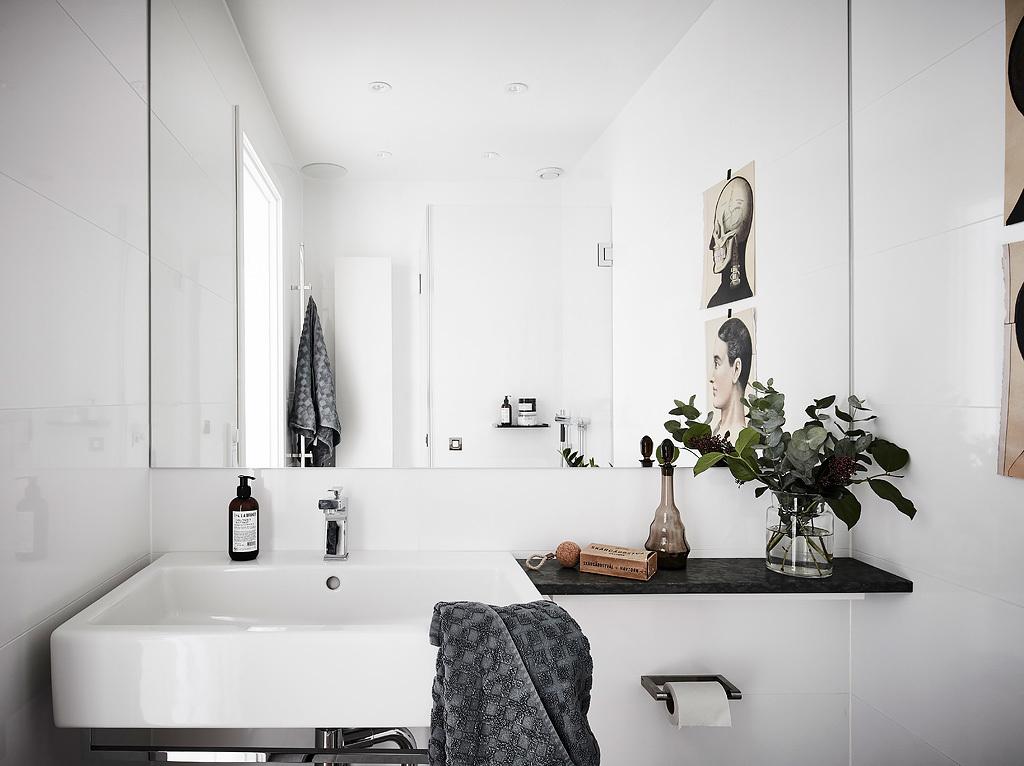 Inspiración de estilo nórdico baño