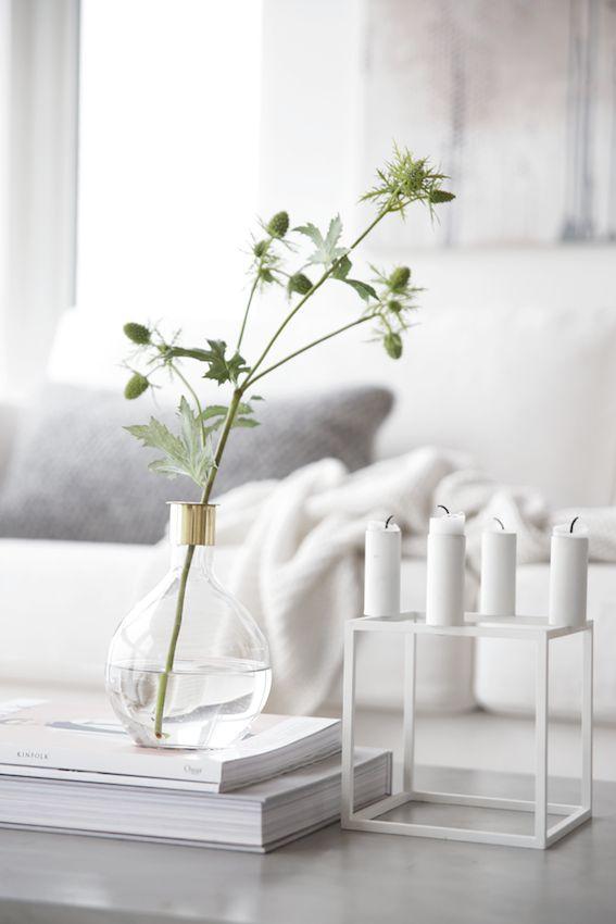decorar la mesa de café con inspiración nórdica