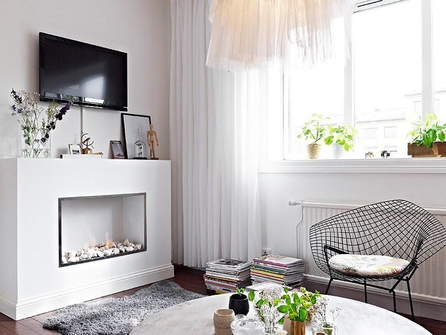 Chimeneas para pisos pequeños