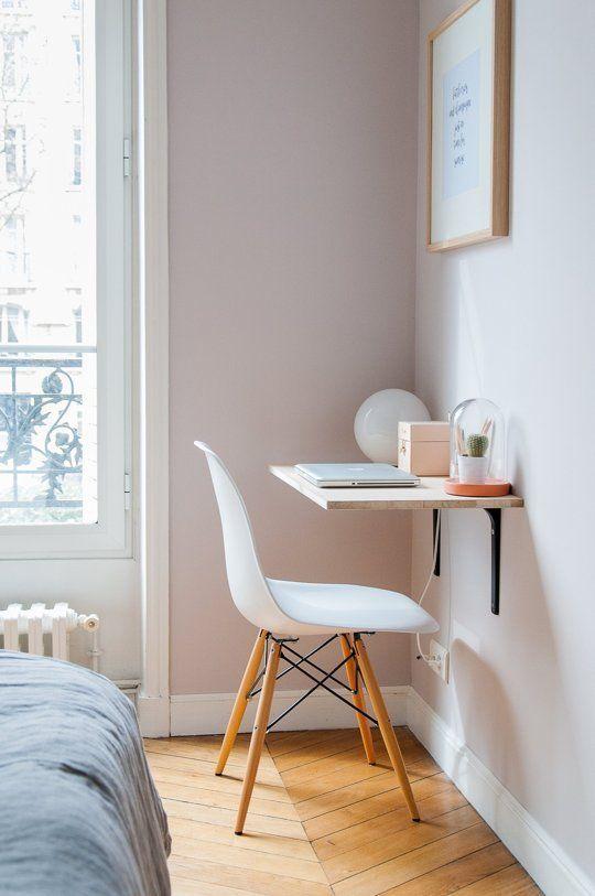 Integrar una zona de trabajo en un dormitorio pequeño