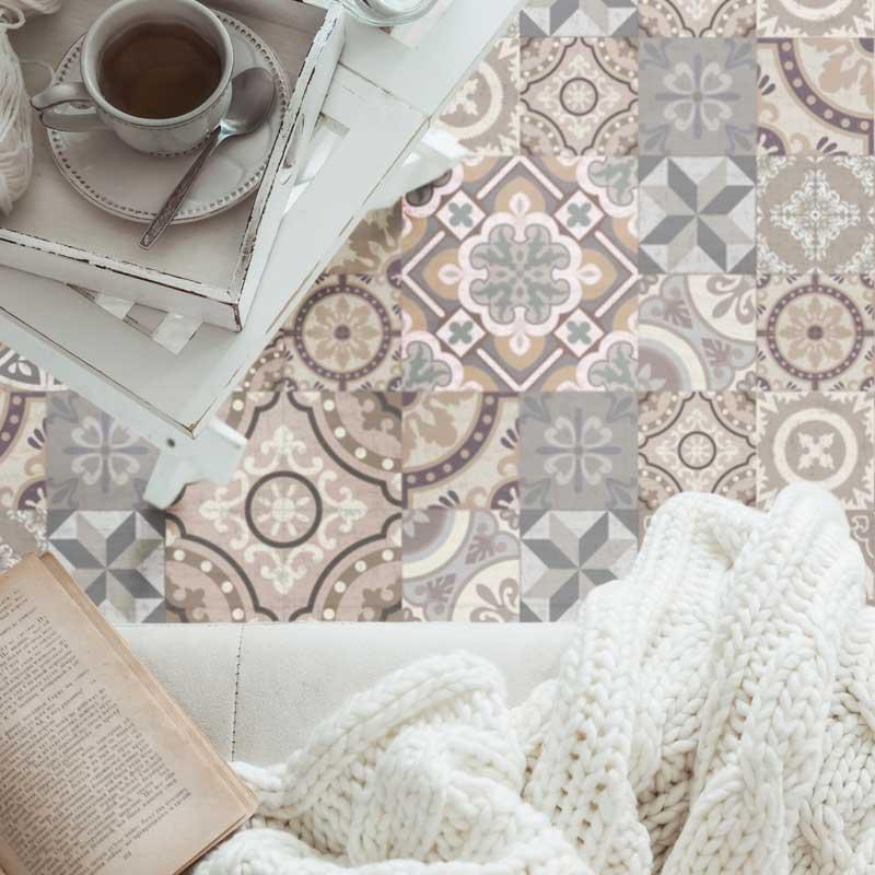 alfombras vinílicas baldosa hidráulica